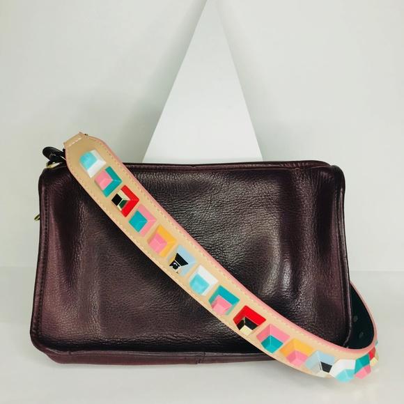 Closet Rehab Handbags - Beige Strap with Multicolor Square Rivets